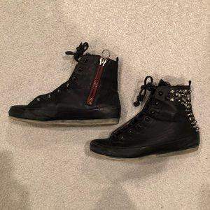 Sam Edelman Black studded fashion sneakers 8M